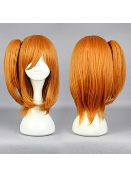 Tai - Logo Long Straight Orange Cosplay Wig