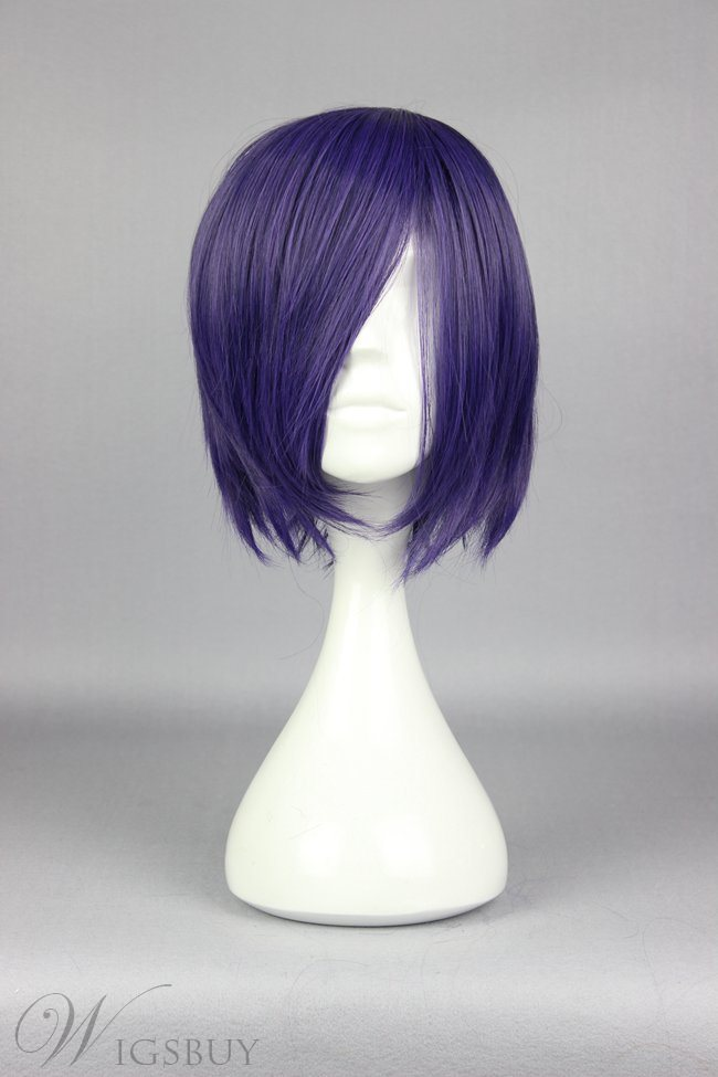 Short Straight Purple Cosplay Wig