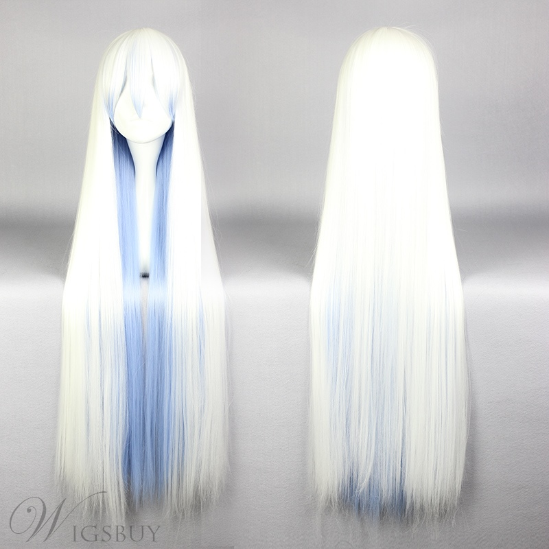 Long Straight Mixed Color Cosplay Wig