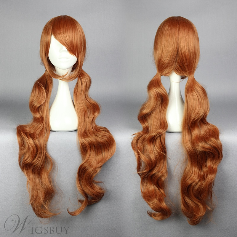 Long Curly Dark Brown Cosplay Wig