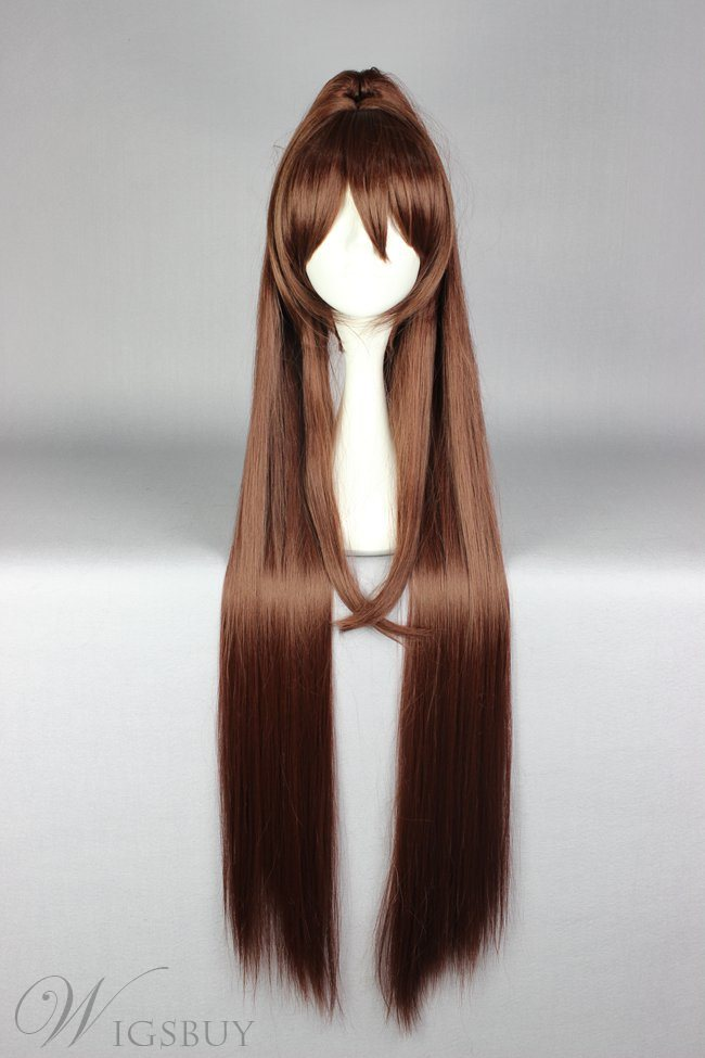 Super Long Straight Brown Cosplay Wig