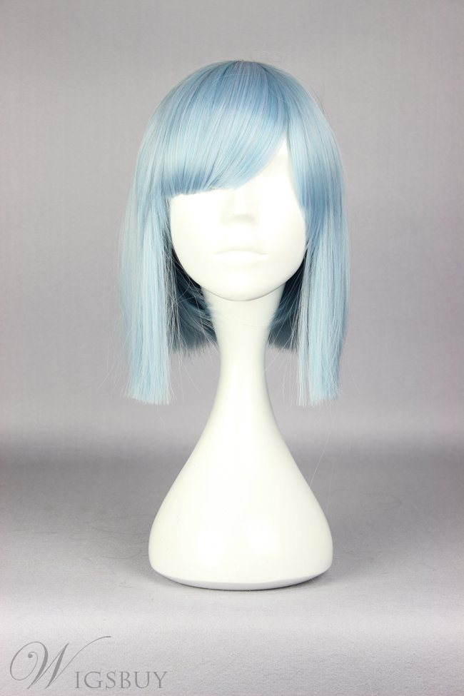 Medium Straight Blue Sky Cosplay Wig