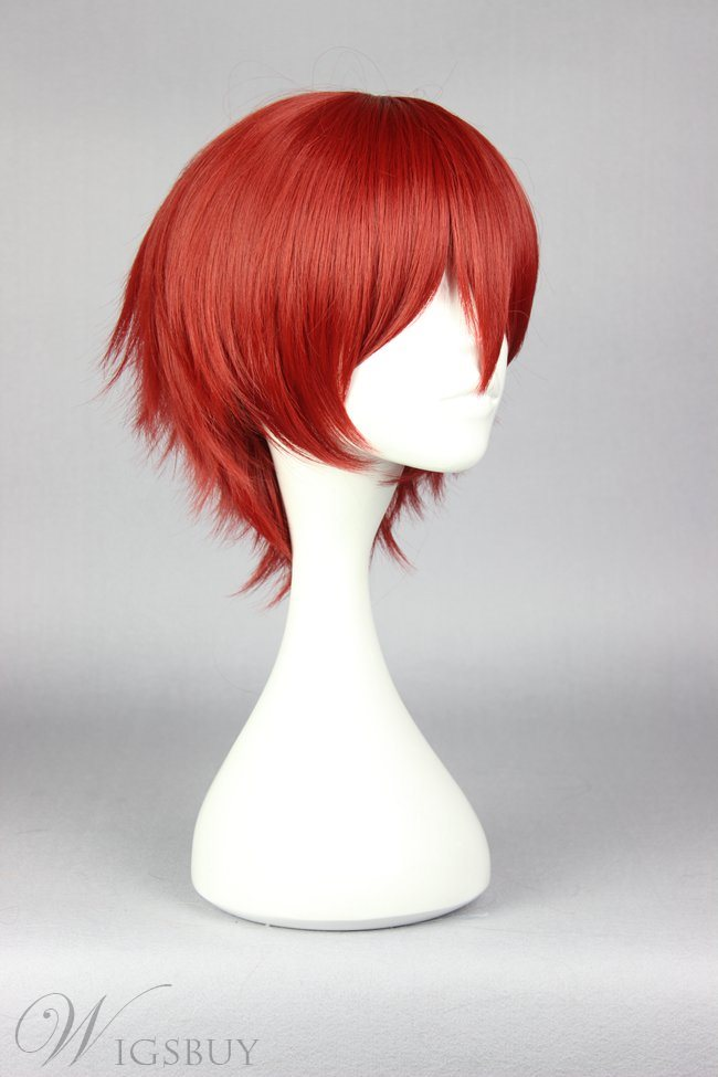 Assassination Classroom Short Straight Red Cosplay Wig