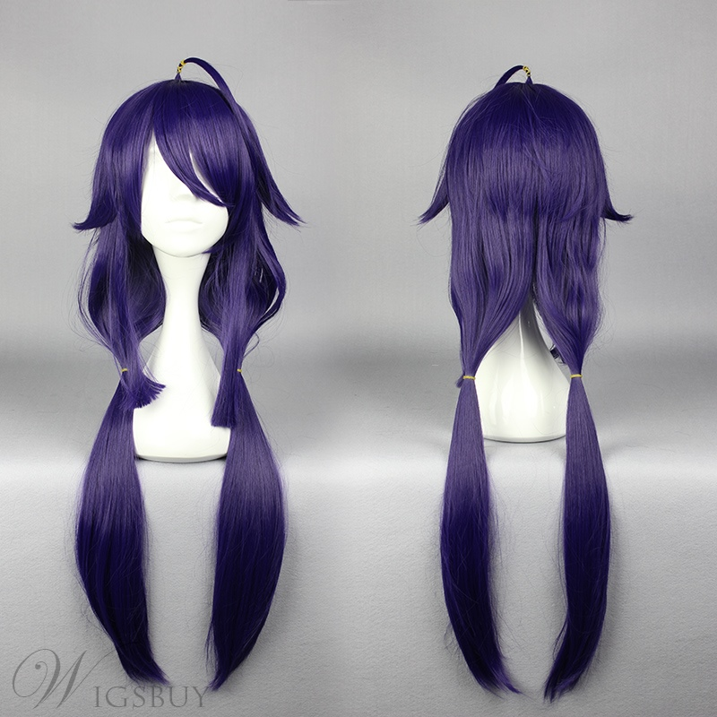 Super Long Straight Purple Cosplay Wig