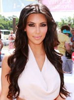 Kim Kardashian Pretty Long Loose Wave Lace Front Synthetic Wigs 24 Inches