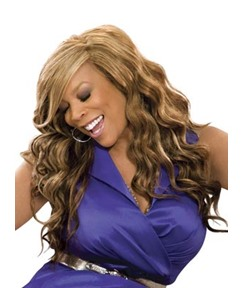 Wendy William Side Bang Long Body Wave Lace Front Synthetic Wigs 20 Inches