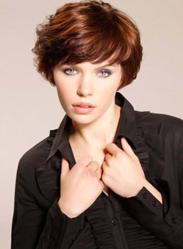 Soft Fluffy Short Layered Straight Capless Human Hair Wig 6 Inches