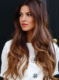 Clip In Sweet Human Hair Long Loose Wave 7 PCS Clip In Hair Extensions