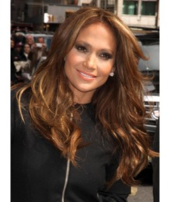 Jennifer Lopez Natural Long Loose Wave Synthetic Lace Front Wigs 20 Inches