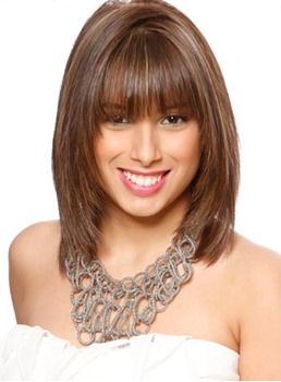 New Arrival Youthful Medium Layered Straight Capless Synthetic Wig 12 Inches