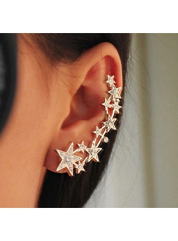 Stars Decorated Alloy Ear Cuff