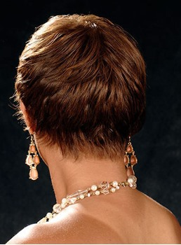 African American Layered Short Straight Capless Synthetic Wigs