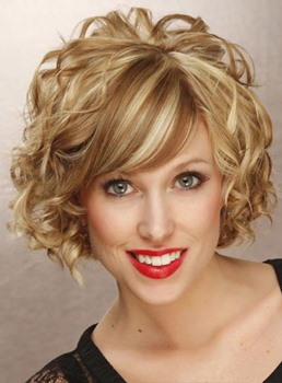 Top Quality Comfortable Short Curly Full Lace 100% Human Hair Wig 10 Inches