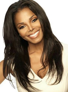 Jannet Jackson Free Parting Long Natrural Straight Human Hair Full Lace Wigs 20 Inches