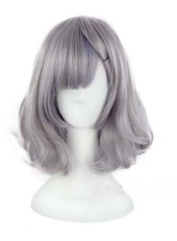 Lovely Medium Loose Wave Granny Colored Wig 12 Inches