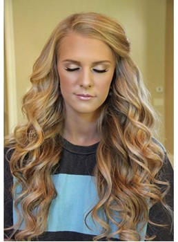 Fascinating Super Long Deep Wave Lace Front Synthetic Wig 28 Inches