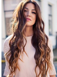 Enchanting Super Long Deep Wave Lace Front Human Hair Wig 26 Inches