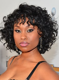 Short Curly Human Hair Capless Wigs for Black Women