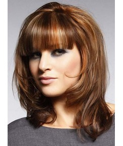 Graceful Medium Bottom Curly Capless Synthetic Wig 14 Inches