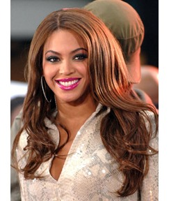 Beyonce Long Loose Wave Centre Parting Synthetic Lace Front Wigs 20 Inches
