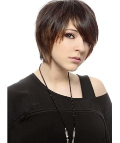 Cool Short Straight Capless Human Hair Wig 10 Inches