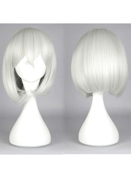 Short Straight Silver Honebamitoushirou Cosplay Wig