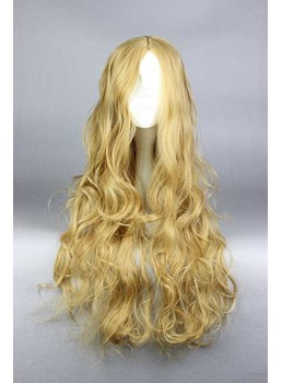 New Arrival Long Curly Light Brown Cinderella Cosplay Wig