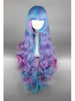 Lovely Lolita Long Curly Mixed Color Cosplay Wig