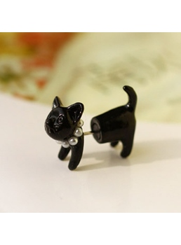 Cute Black Cat Shaped Earring