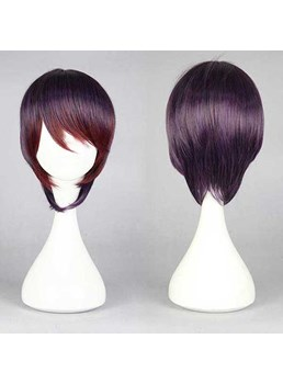 New Arrival Short Straight Mixed Light Purple Cosplay Wig