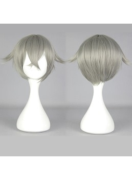Hotarumaru Short Straight Gray Cosplay Wig