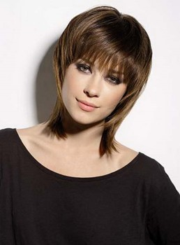 Latest Trend Short Layered Straight Capless Synthetic Wig 12 Inches