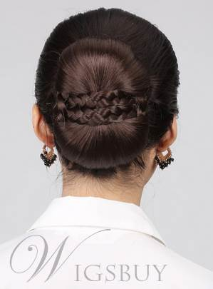 Dark Brown #8 Clip In Hepburn Synthetic Bun