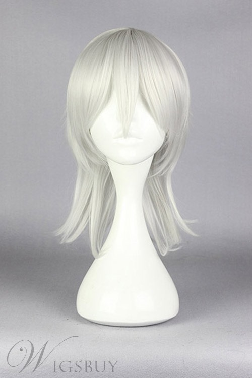 Medium Straight Silver Cosplay Wig