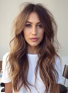 Gorgeous Long Messy Loose Wave Lace Front Human Hair Wig 22 Inches