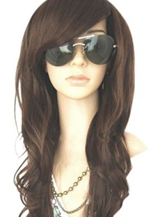 Deep Side Bang Long Loose Wave Capless Synthetic Wigs 22 Inches