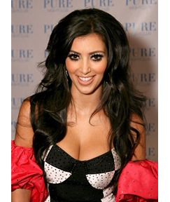 Kim Kardashian Layered Loose Wave Lace Front Synthetic Wigs 20 Inches