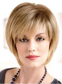 Hot Sale Short Straight Capless Synthetic Wig 8 Inches