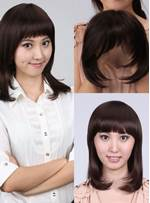 Ventilate Women Top Piece Natural Straight Baby Haircut