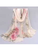 New Trend Flower Pattern Chiffon Thin Scarf