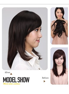 Natural Straight Synthetic Side Bang 1 PC