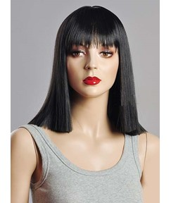Youthful Medium Bob Hairstyle Synthetic Wig 14 Inches