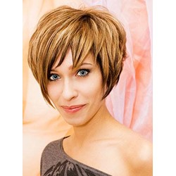 Attractive Short Straight Capless Synthetic Wig