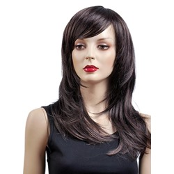 Graceful Long Straight Capless Synthetic Wig 18 Inches
