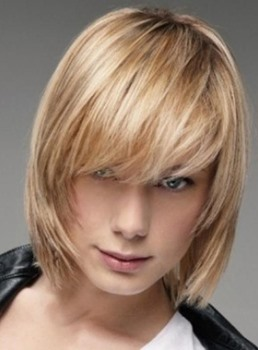 Youthful Bob Hairstyle Straight Capless Synthetic Wig 10 Inches