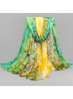New Arrival Chiffon Flower Shape Sun Block Beach Scarf Tippet