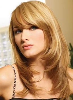 Elegant Long Layered Straight Capless Human Hair Wig 18 Inches