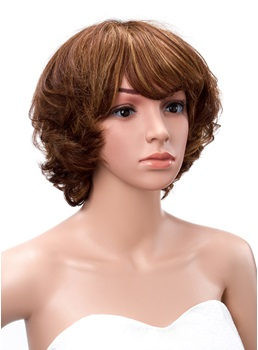 Short Curly Human Hair Bob Hairstyle 10 Inches Cheap Wigs