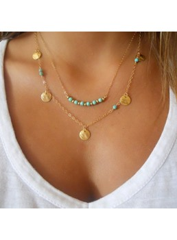 Fashionable European Style Double-Layer Necklace