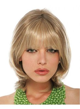 Stylish Medium Straight Capless Synthetic Wig